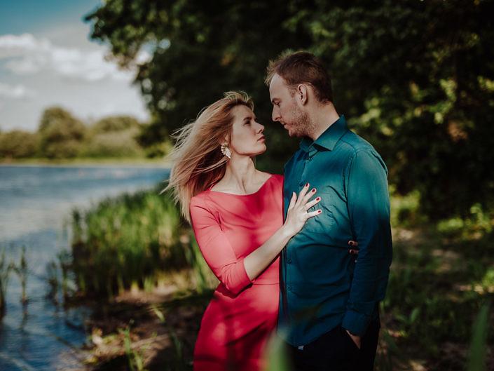 Sesja w parku w Otwocku Wielkim - Ania i Kamil