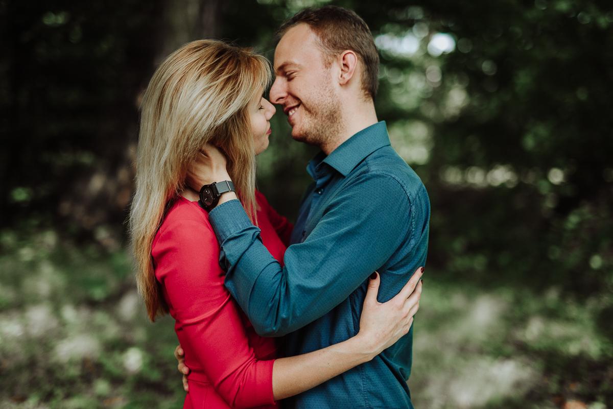otwock wielki para pocałunek fotografia slubna